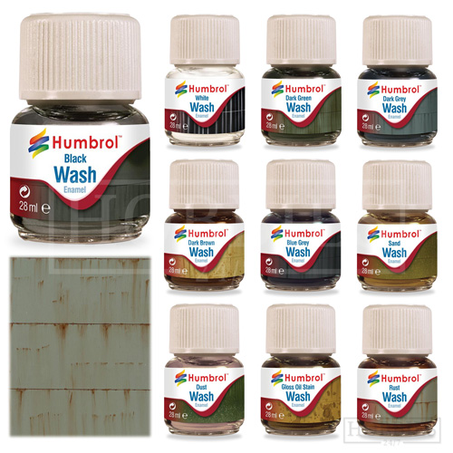 Details about Humbrol Enamel Wash Model Paints Weathering Pigment Oil Grime  Dirt Black Washes