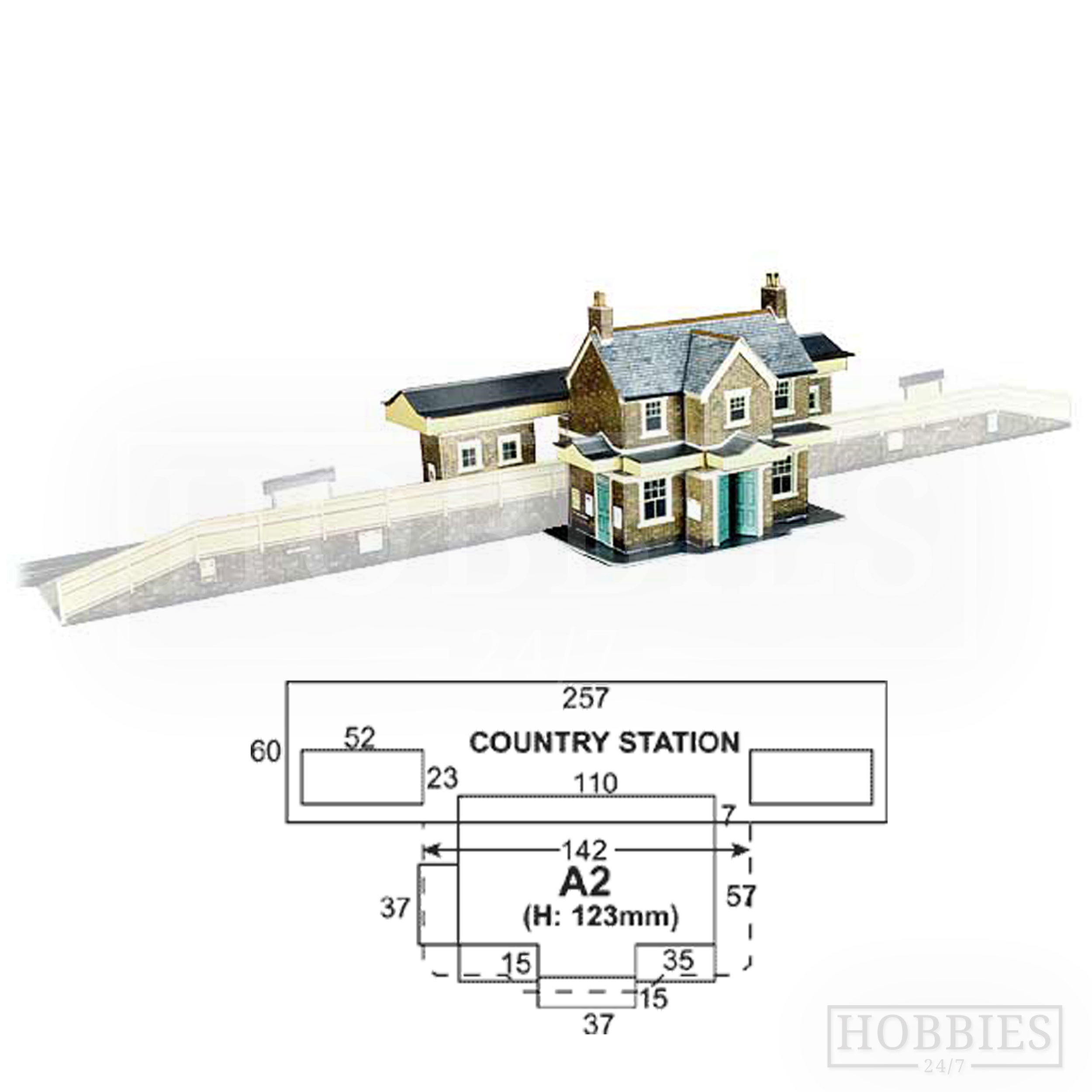 A2 Country Station Building Superquick Card Kit