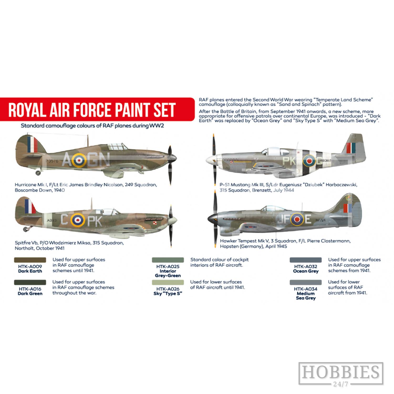 Hataka Royal Air Force WWII Paint Set
